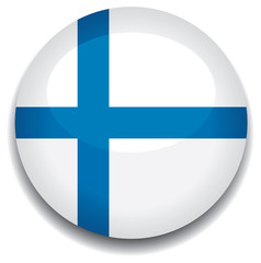 finland flag in a button