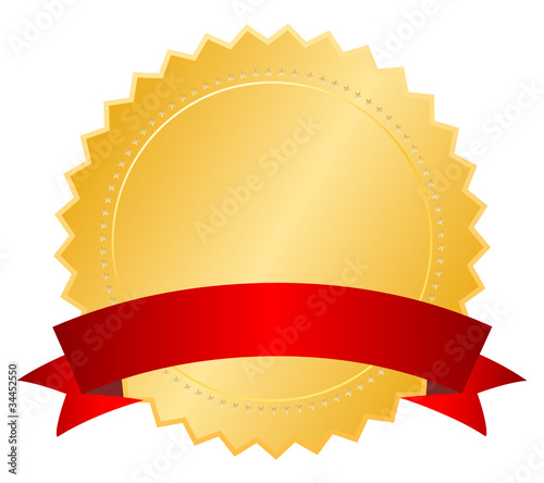 Gold blank certificate, vector illustration