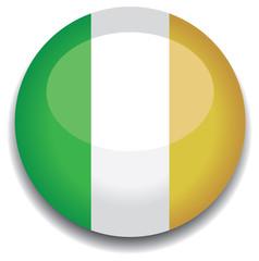 ireland flag in a button