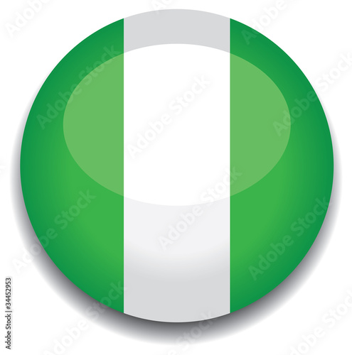 nigeria flag in a button