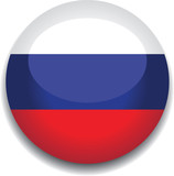 russia flag in a button