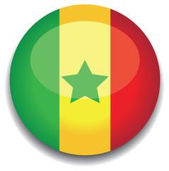 senegal flag in a button