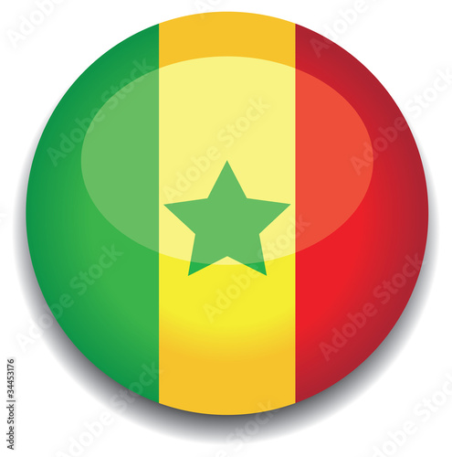 senegal flag in a button