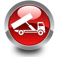 Dumper truck glossy icon