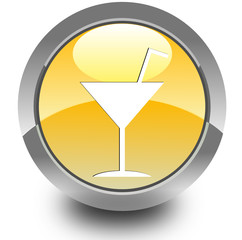 Cocktail glossy icon