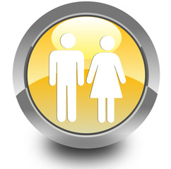 Couple glossy icon