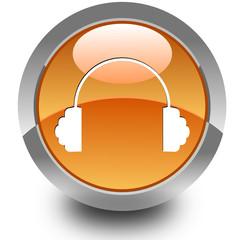 Headphone glossy icon