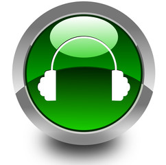 Headphone glossy icon