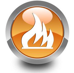 Fire glossy icon