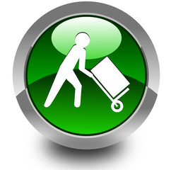 Transport cart glossy icon
