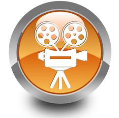 Video camera glossy icon