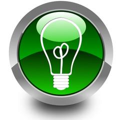 Light bulb glossy icon