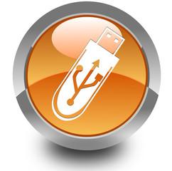 Pendrive glossy icon