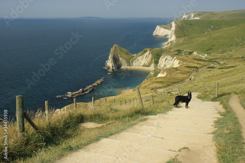 steps leading down to Durdle Door beach