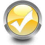 Validation glossy icon