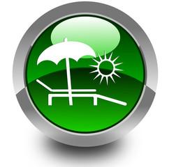 Summer glossy icon
