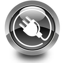 Plug glossy icon