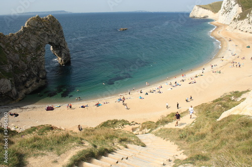 birdview of Durdle Door beach