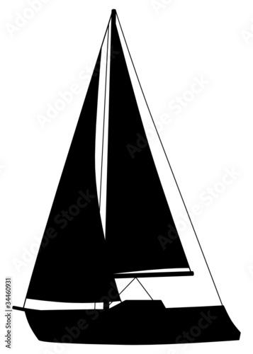 segelboot silhouette schiff boot von t michel