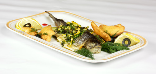 Pan-roasted trout