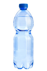 Plastic blue bottle