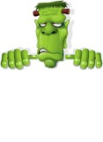 Fototapety Frankenstein Halloween Cartoon Monster Background-Vector