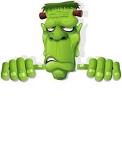 Frankenstein Halloween Cartoon Monster Background-Vector