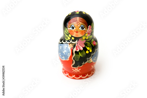 Babushka isolated on white