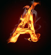 """Fire letter """"A"""""""