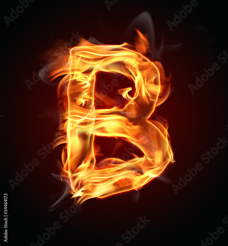 """Fire letter ""B"""" Stock photo and royalty-free images on ... Letter B Fire"