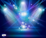 magické reflektory s blue violet paprsky