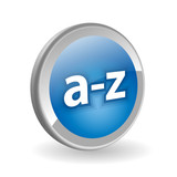 A-Z Web Button (catalogue search products dictionary directory) poster