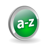 A-Z Web Button (catalogue search products directory dictionary) poster