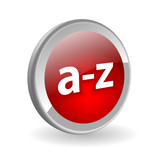 A-Z Web Button (directory catalogue search products dictionary) poster