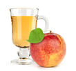 red apple fruit with juice