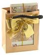 sac liasse billets cadeau ruban doré