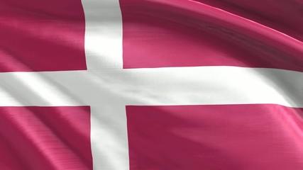 Nahtlos wiederholende Flagge Dänemark
