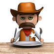3d Sheriff looks mighty hungry