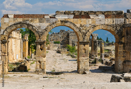 ruins of the ancient city of Hierapolis, Pamukkale
