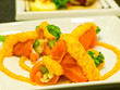 Salmon mentai sauce, Japanese menu