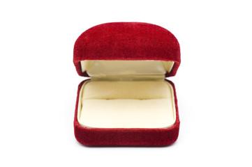 開いた赤色の宝石箱