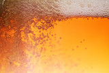 Beer bubble, macro.