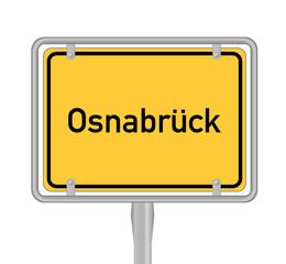 Osnabrück , Ortsschild