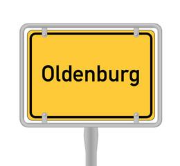 Oldenburg, Ortsschild