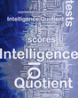 Intelligence quotient background concept