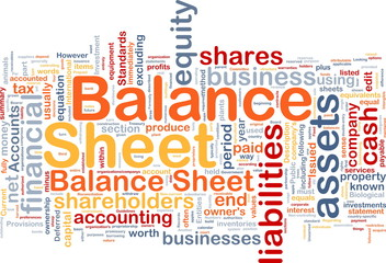 Balance sheet background concept