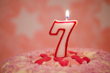 Geburtstagstorte – 7 Jahre