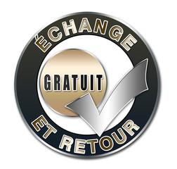 """Bouton échange et retour gratuit"""""""
