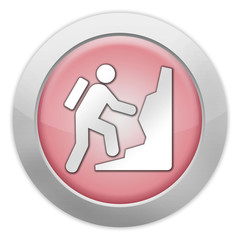 "Light Colored Icon (Red) ""Climbing"""