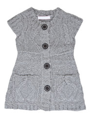 Grey knitted waistcoat with the buttons